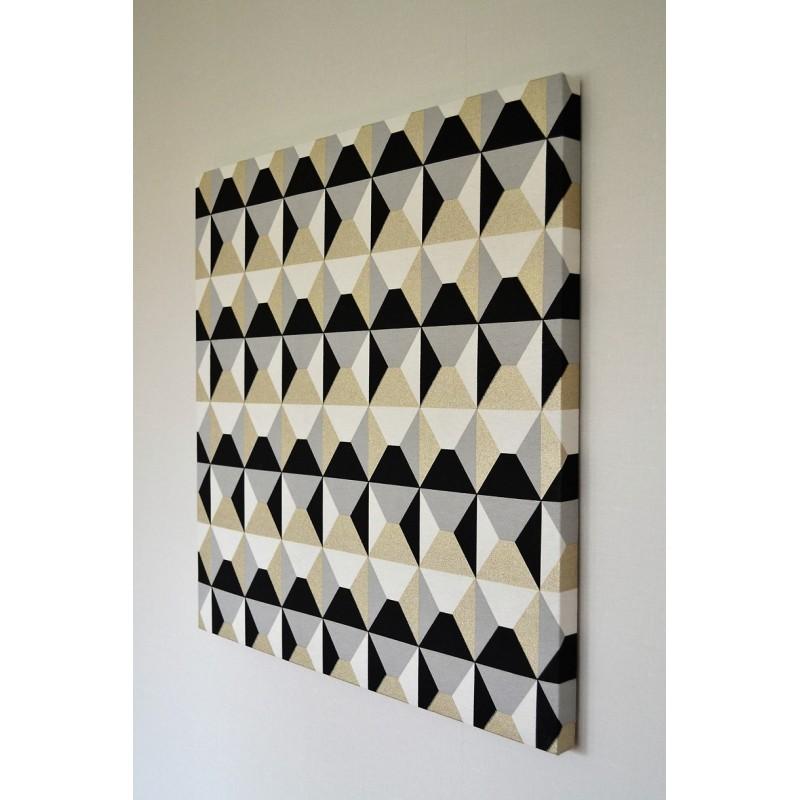 Tableau tissu décoratif Trapézio 70 x 70