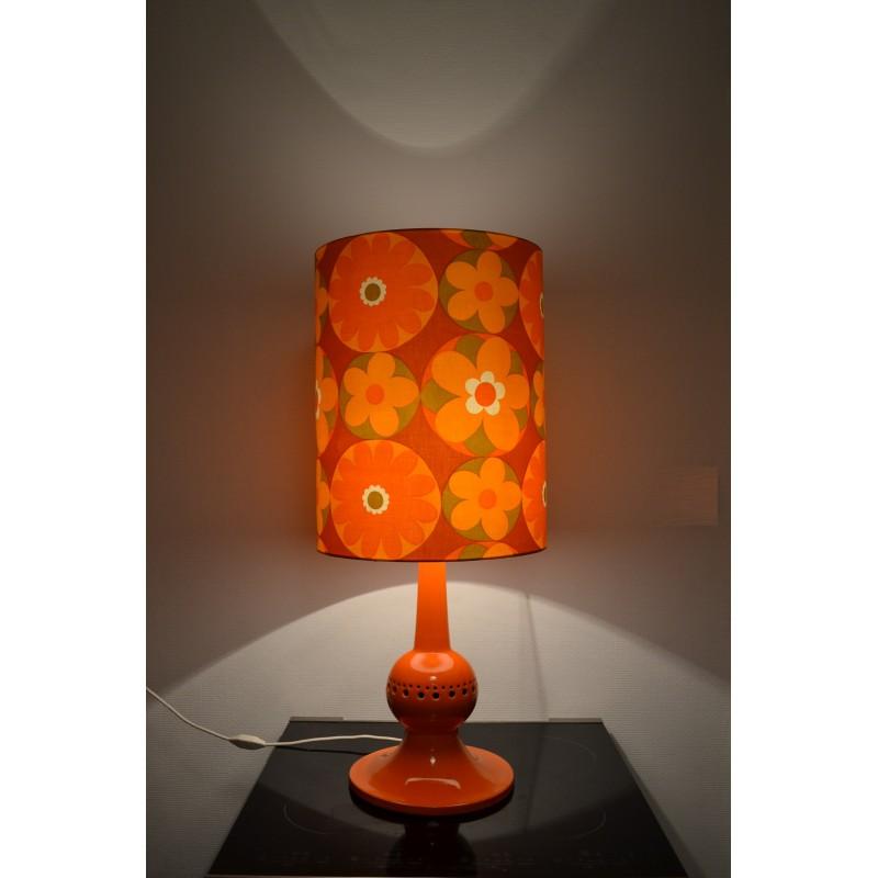 Lampe à poser vintage orange Corolles