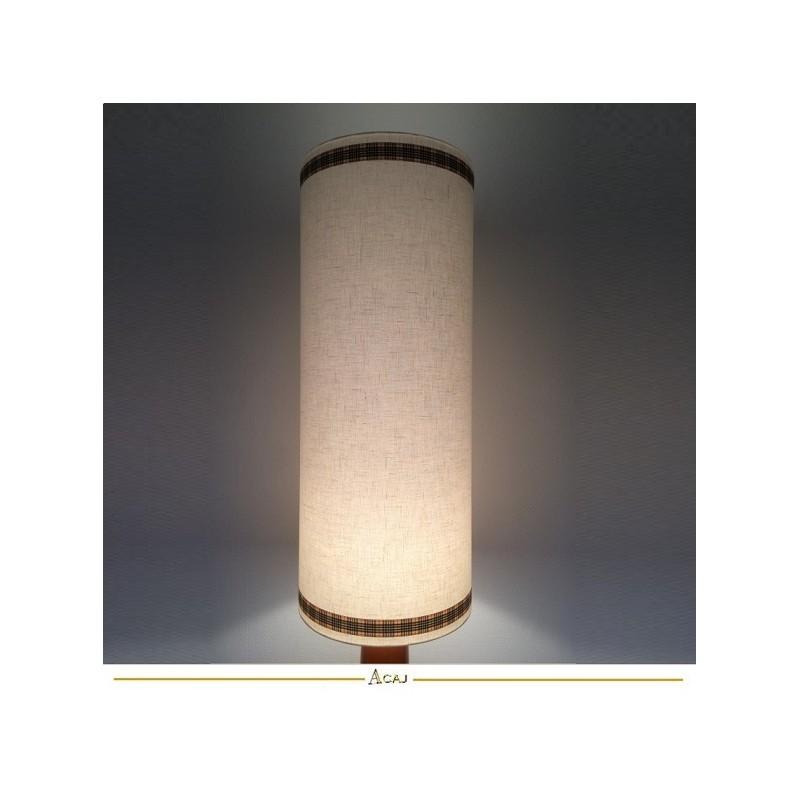 Abat-jour tissu écru texturé H75 D30