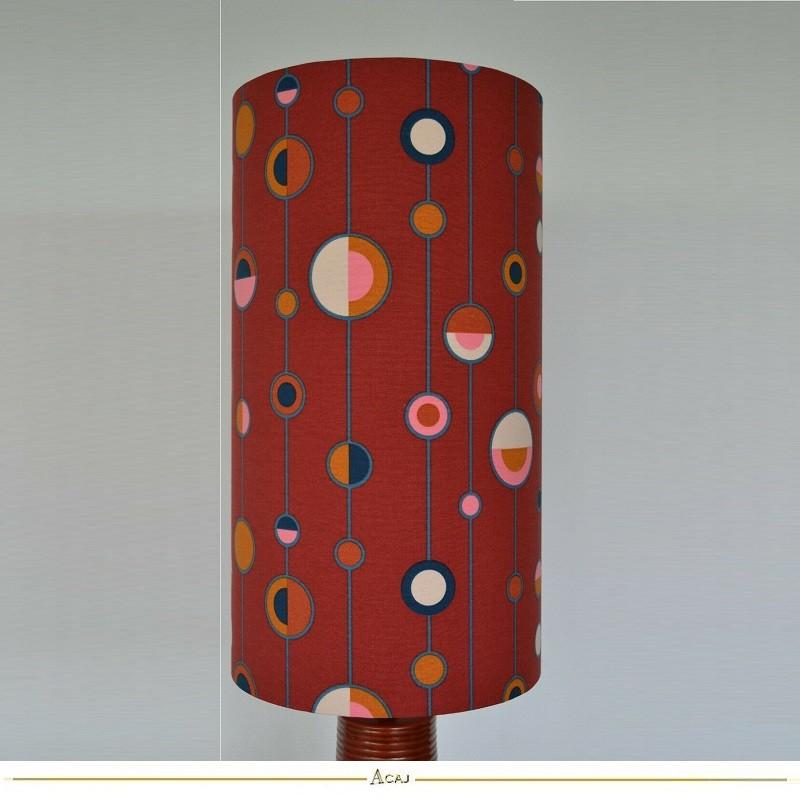 Abat-jour tissu motif Ottoman Sixties H50 D25