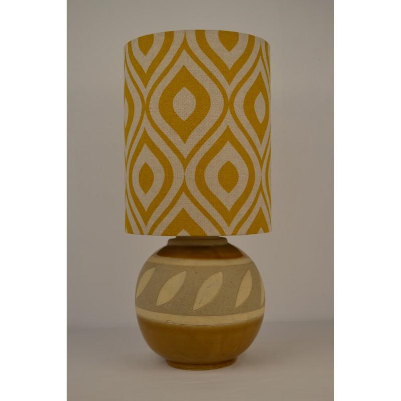 Lampe à poser céramique motif vintage Novador