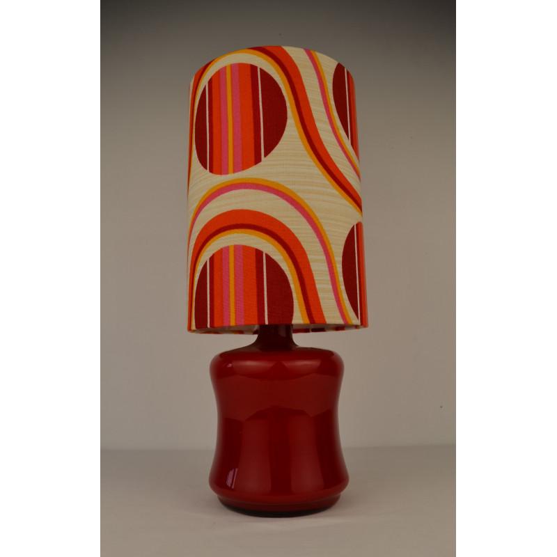 Lampe à poser rouge Fantasia vintage 60 70