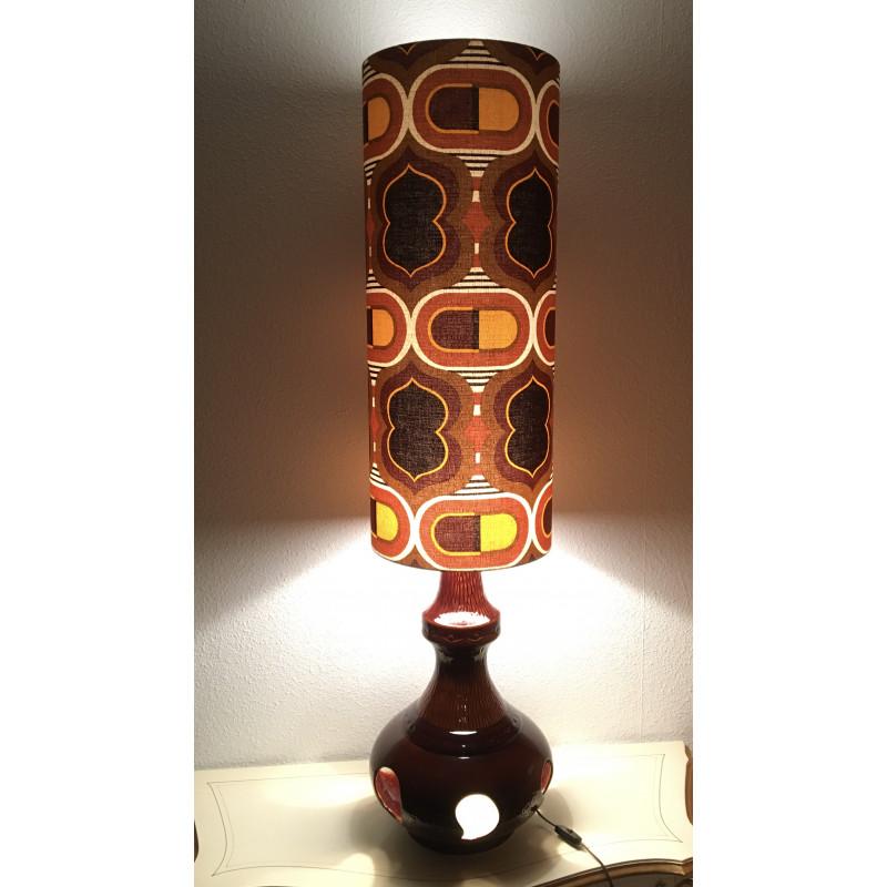Lampe de sol Pilule au tissu vintage 1970