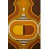 Floorlamp Pilule - vintage 1970 fabric