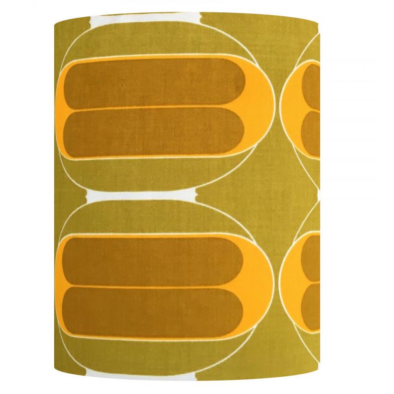 Lampshade Curry H45cm D35cm - vintage tissue