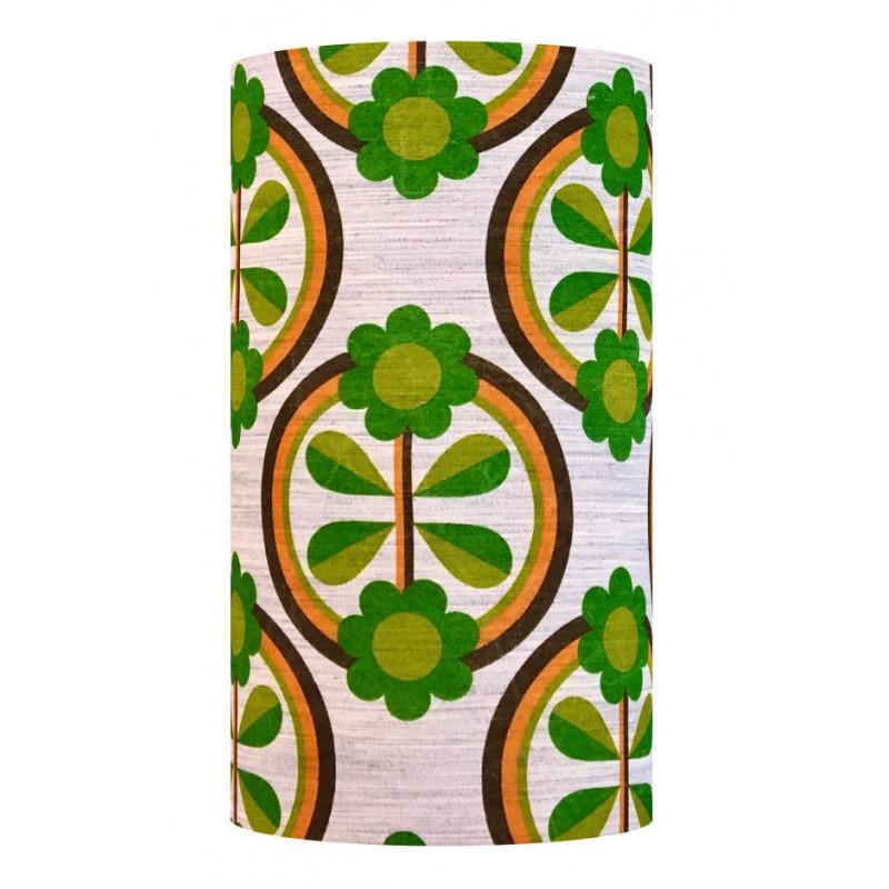 Lampshade Green Jewel H50cm D25cm - vintage fabric