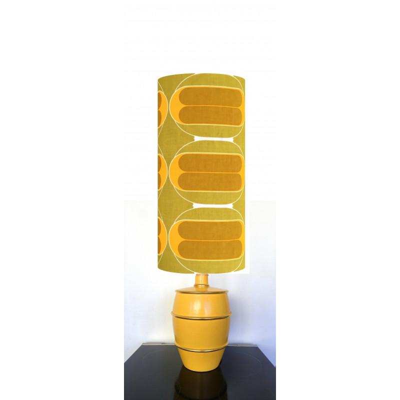 Lampe de sol jaune Curry - vintage 1970's