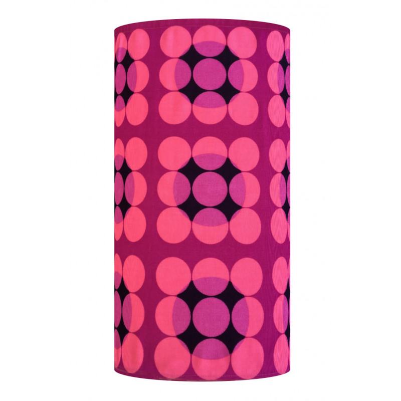 Lampshade Abat-jour Antares rose H60cm D30cm - vintage tissue