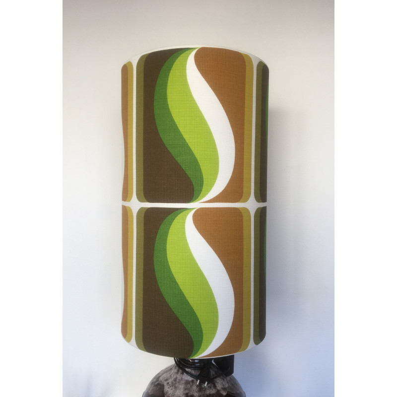 Lampshade  Forest H60cm D35cm - 70s fabric