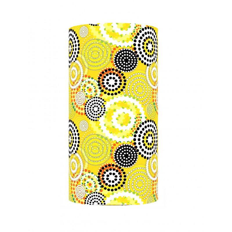 Lampshade Bohême yellow H60cm D30cm - vintage fabric