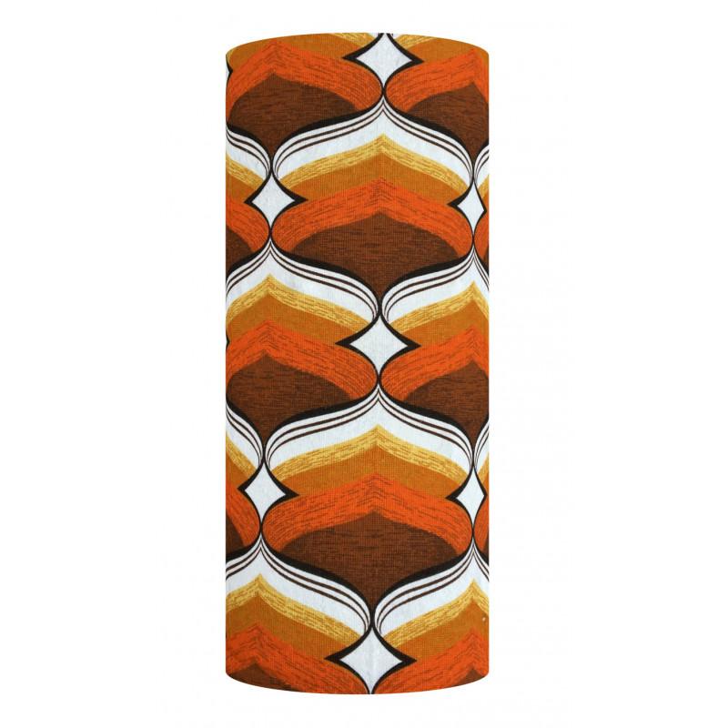 Lampshade Boston orange H75cm D30cm - vintage fabric
