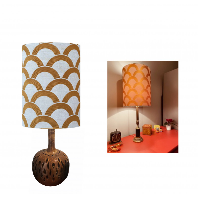Lampshade Ecailles d'or H45 D35