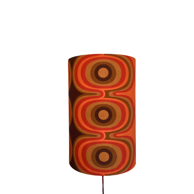 Lampshade Target H60cm D30cm - vintage fabric