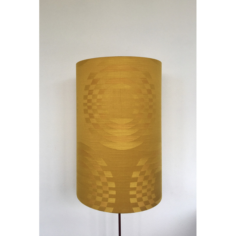 Lampshade Hélios H50cm D35cm - vintage 1970's tissue