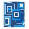 Lampshade  Fontenoy bleu H35 D35 - vintage tissue
