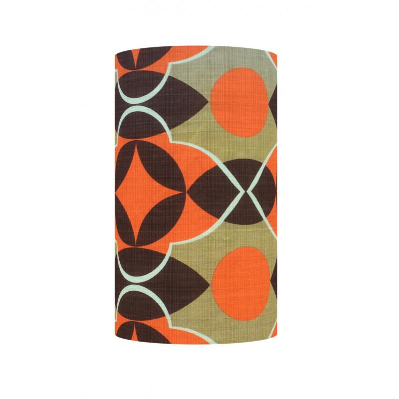 Lampshade Oblivion H40cm D20cm - vintage 70s fabric