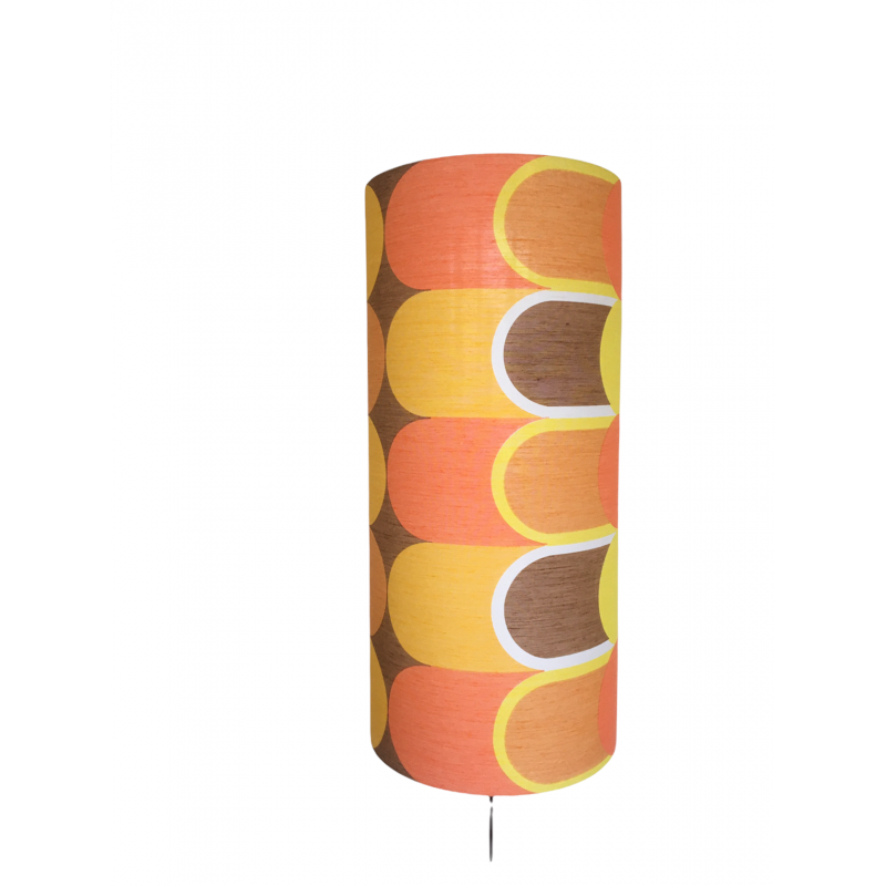 Lampshade Switch H65cm D30cm - vintage fabric