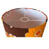 Lampshade Tourelle florale H50 D25 - vintage fabric