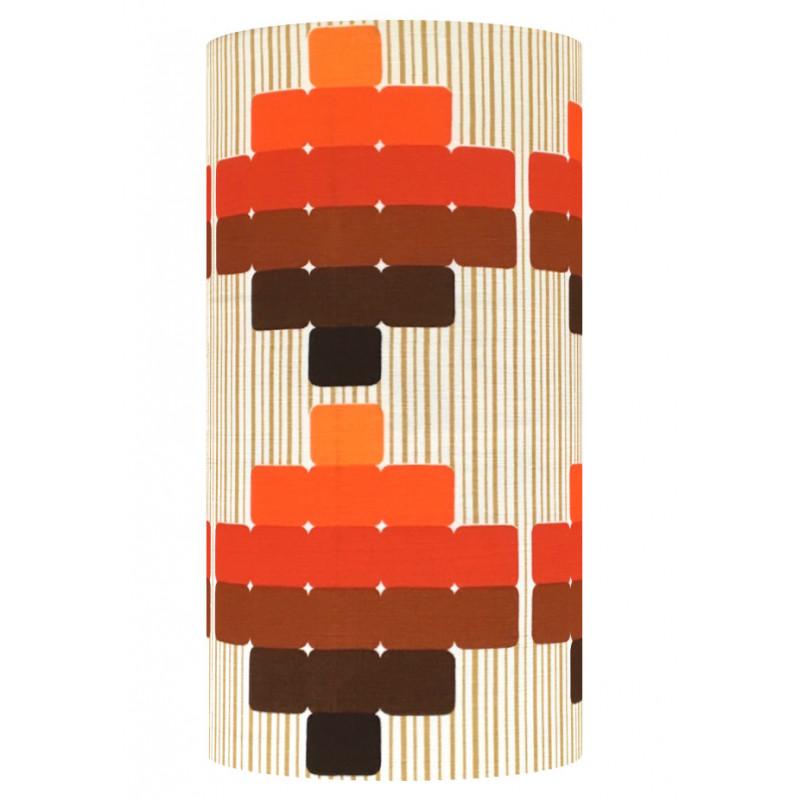 Lampshade Atlantis Orange H60cm D30cm - vintage fabric